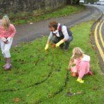 In-Bloom Volunteer Janis Quarmby and her Helpers