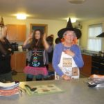 In-Bloom Volunteer Mavis Burn Dishing up a Witches Delight